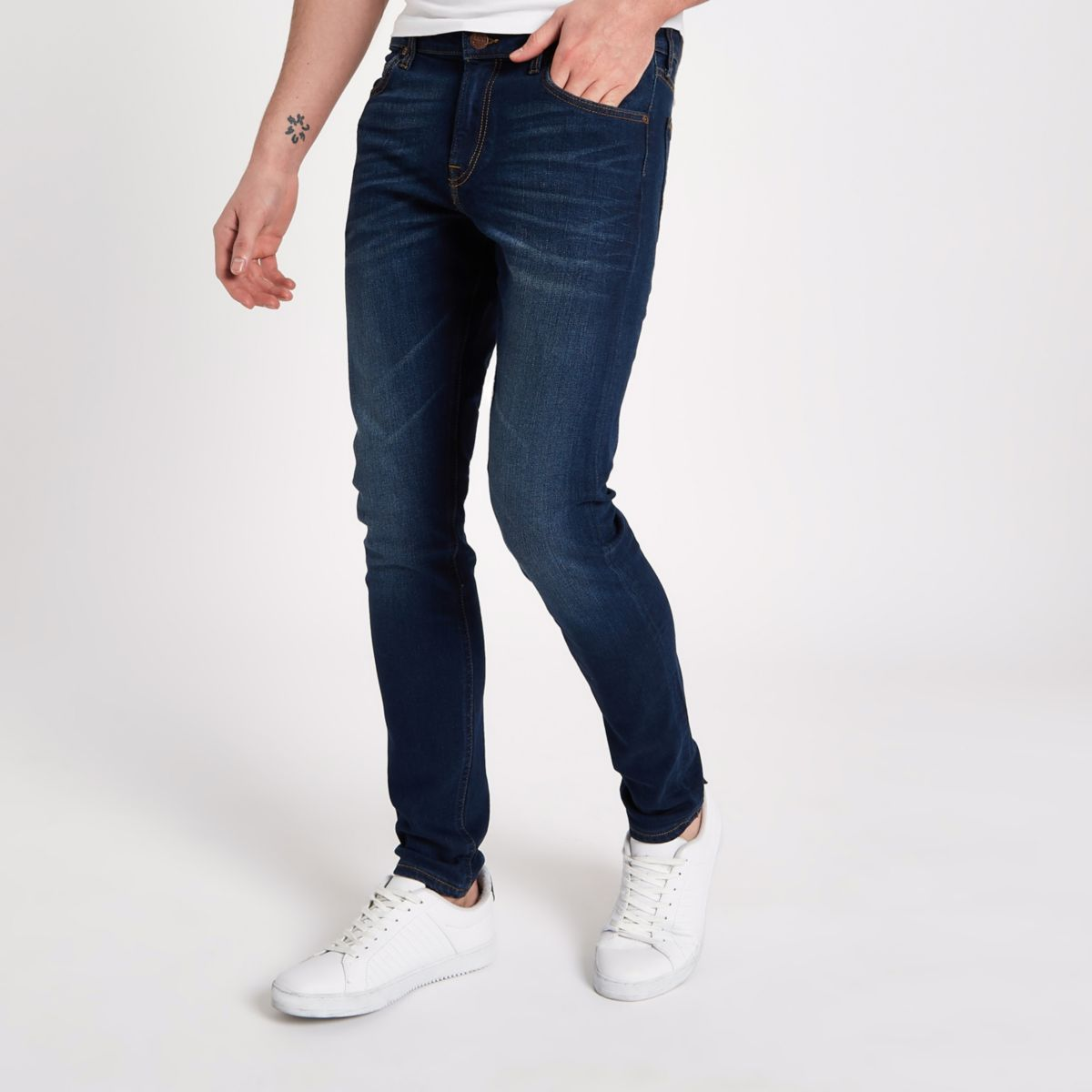 Lee blue stretch skinny fit Malone jeans