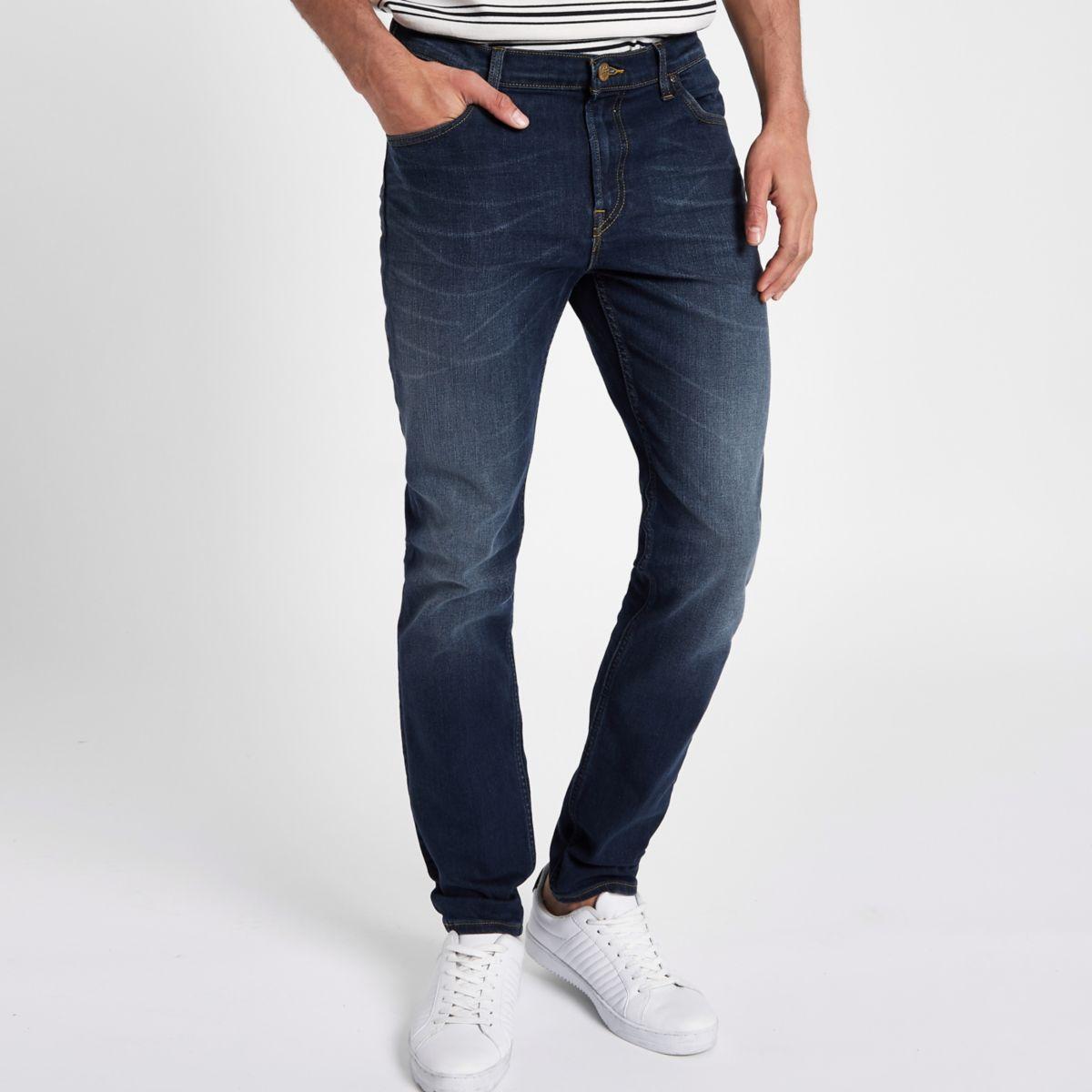 Lee – Rider – Blaue Slim Fit Jeans