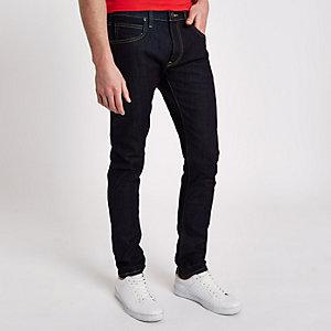 Lee - Donkerblauwe smaltoelopende jeans