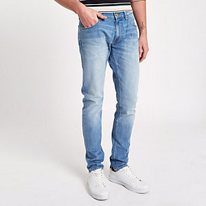 Light blue Lee slim tapered jeans