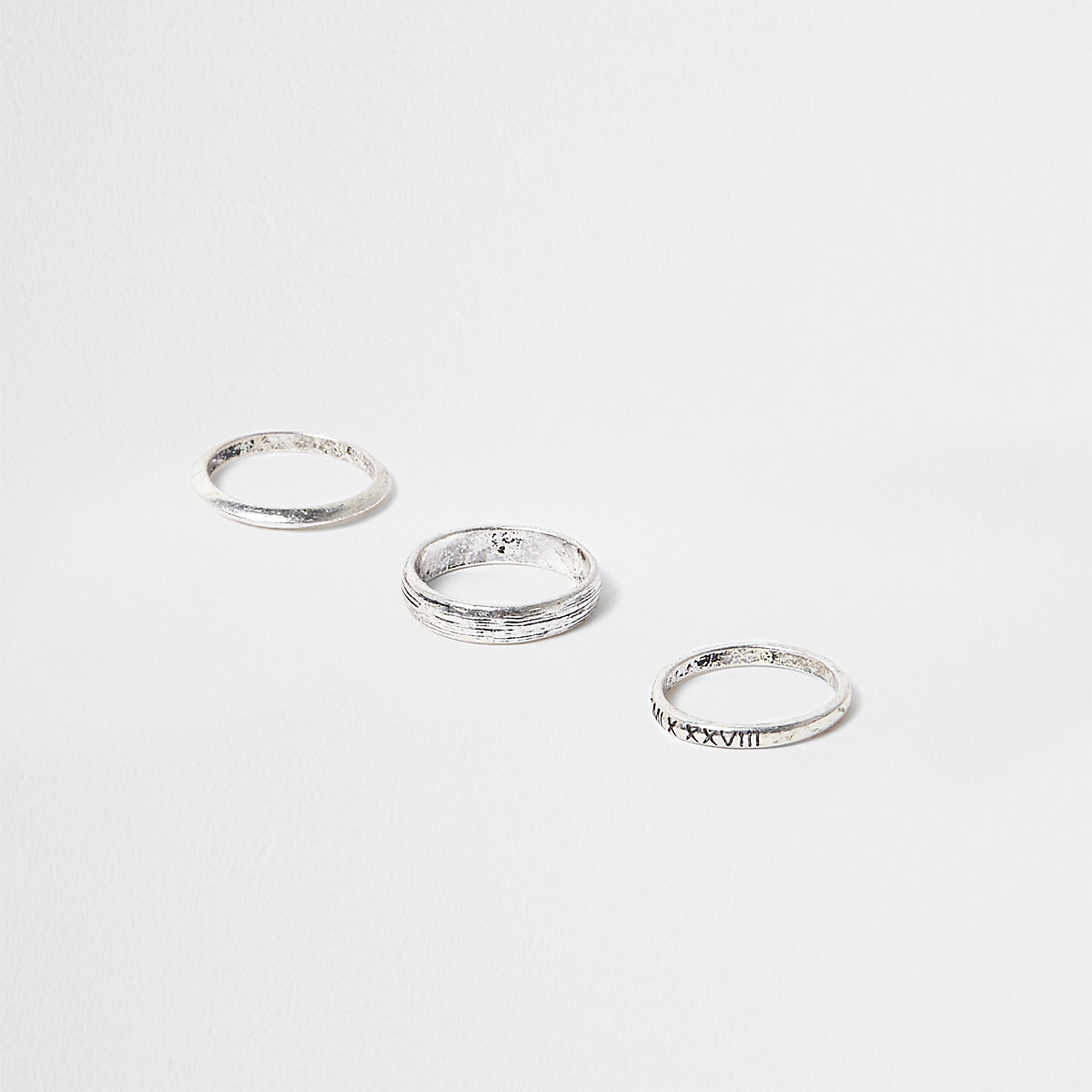 Silver tone ring multipack