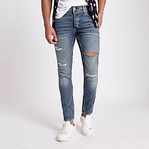 Jean skinny stretch Sid bleu