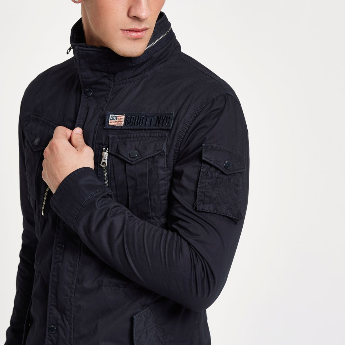 Schott navy field jacket