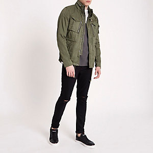 Dark green Schott field jacket