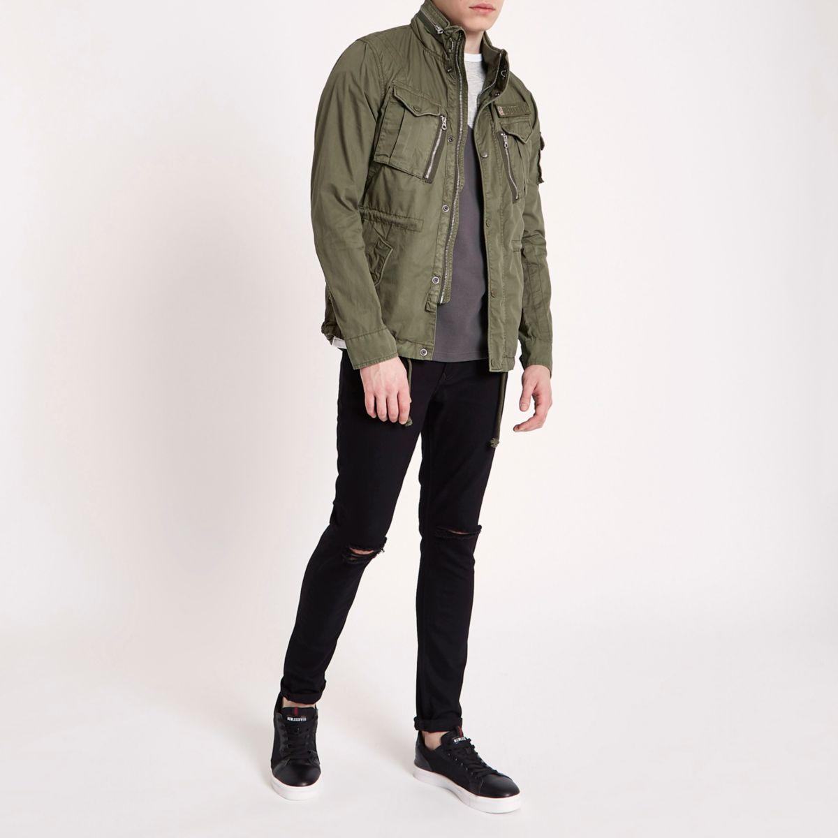 Dark green Schott field jacket