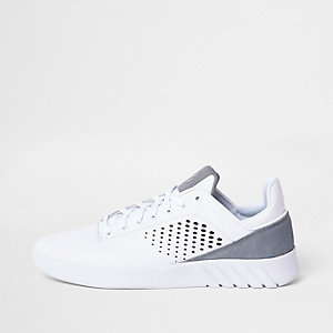 K-Swiss white sports runner sneakers