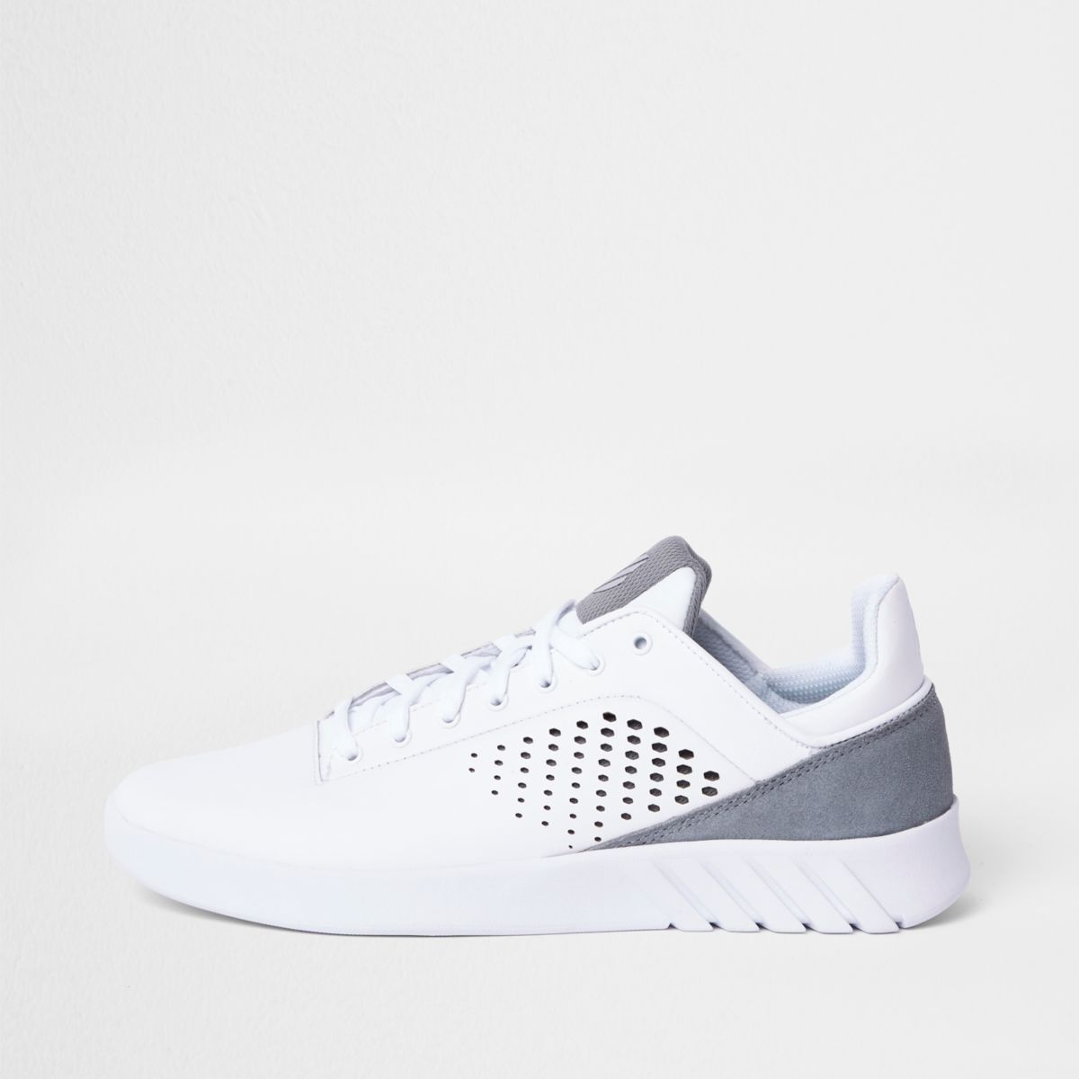 K-Swiss white sports runner sneakers