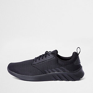 Black K-Swiss mesh sports runner sneakers
