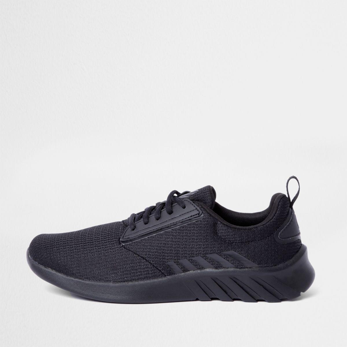 Black K-Swiss mesh sports runner sneakers