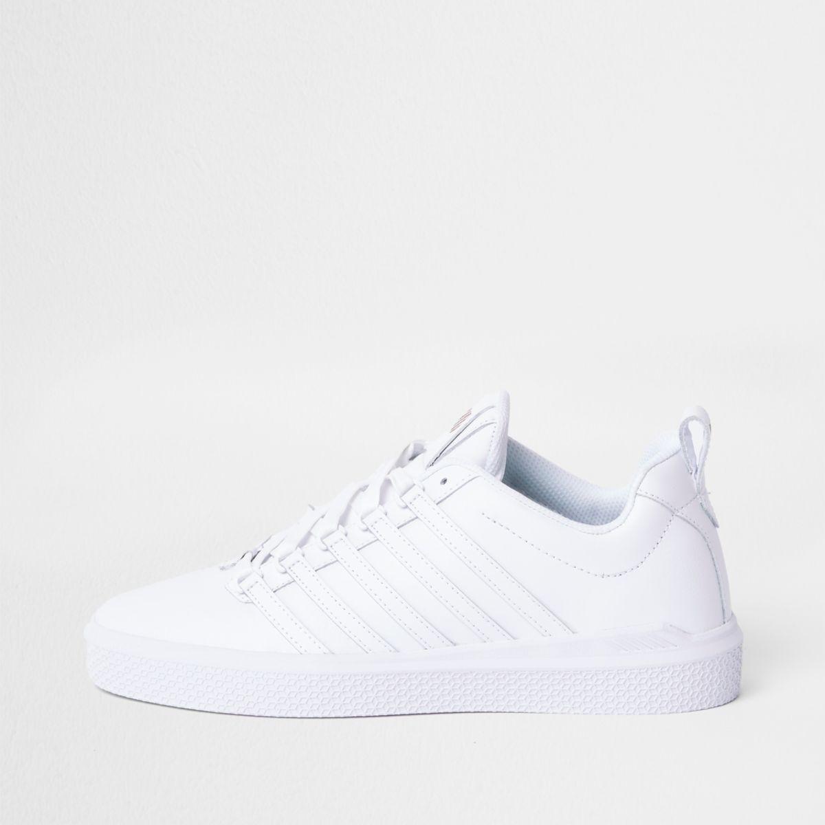White K-Swiss premium leather sneakers