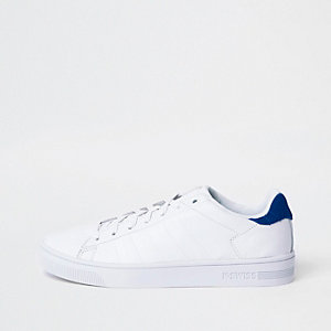 K-Swiss white low top cupsole sneakers