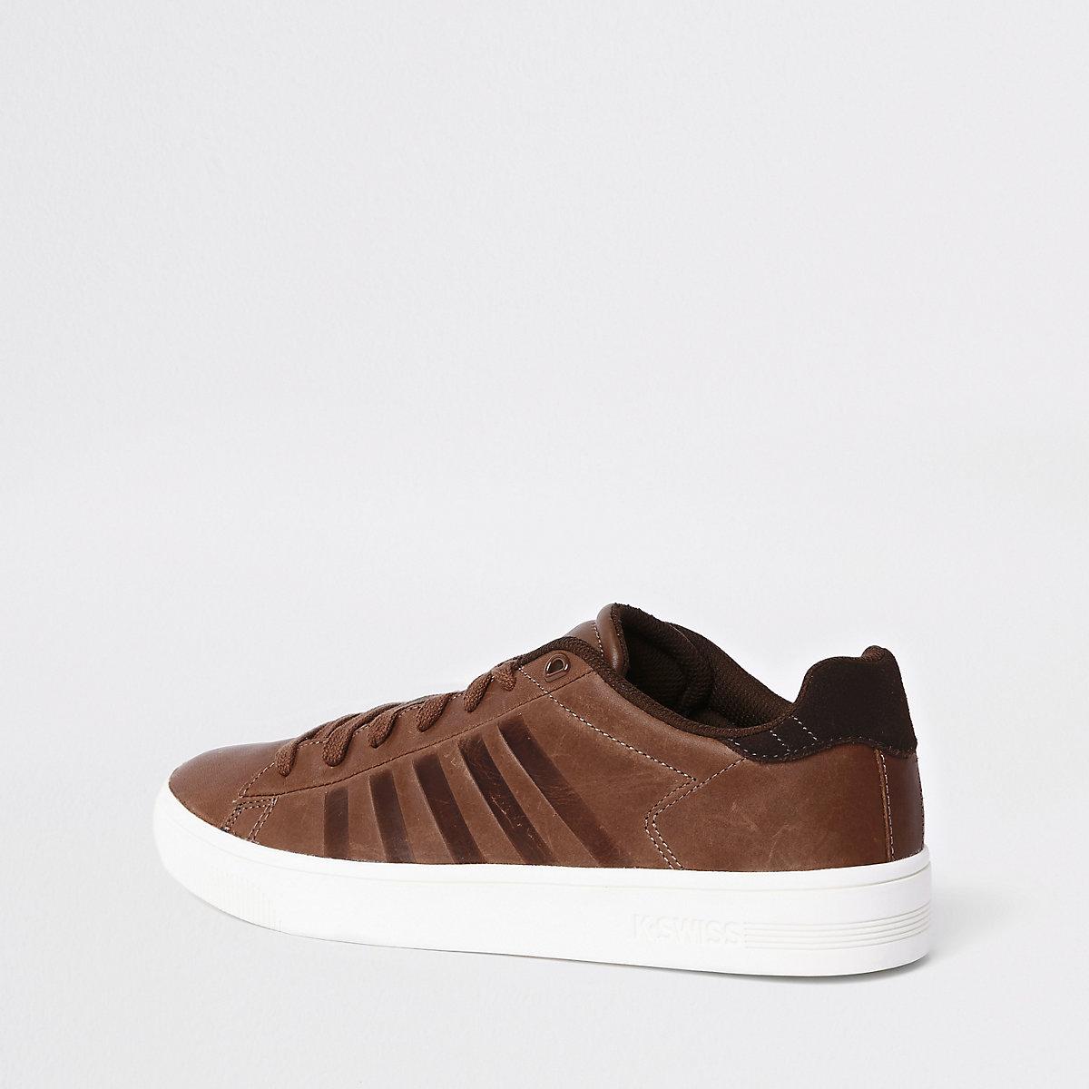 dfc17b3d5530 K-Swiss – Braune Low-Top-Sneaker mit Cup-Sohle - Schuhe   Stiefel ...