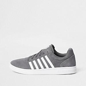 Grey K-Swiss low top court runner sneakers