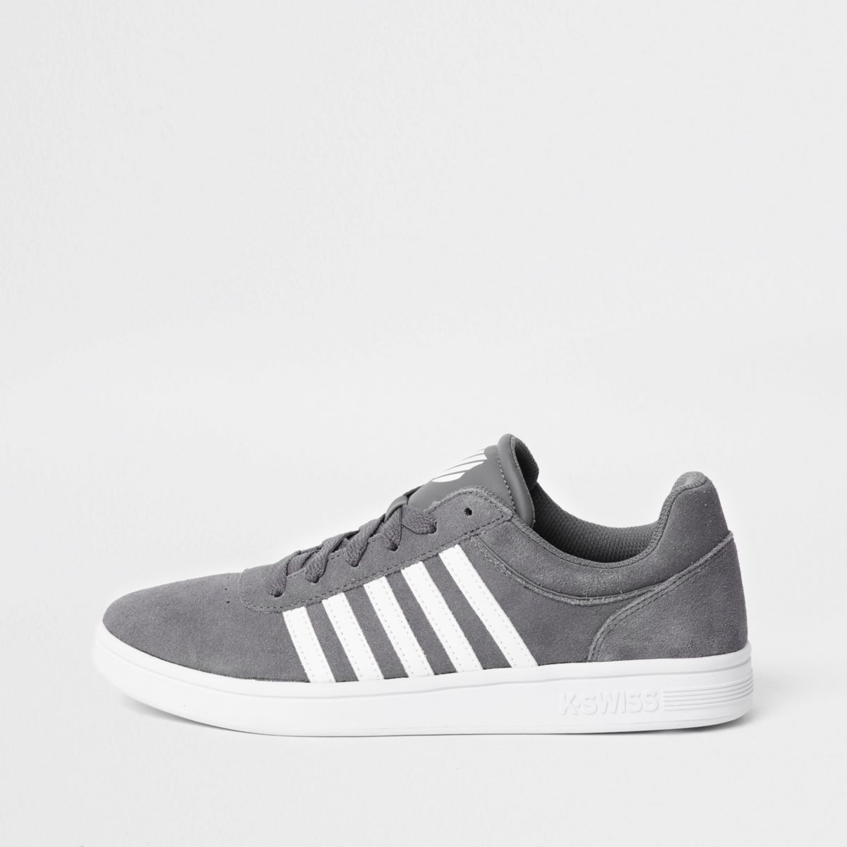 Grey K-Swiss low top court runner trainers