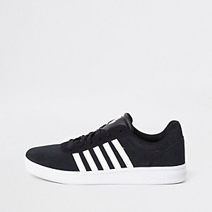 K-Swiss black low top court runner sneakers