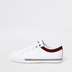 K-Swiss – Weiße Low-Top-Sneaker aus Leinen