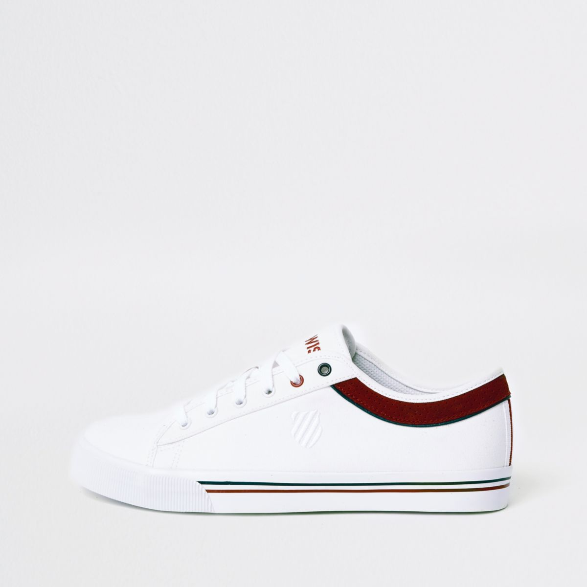 White K-Swiss low top canvas sneakers