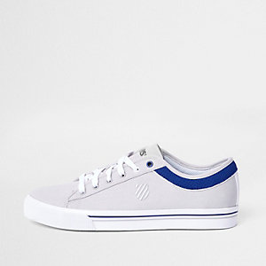 K-Swiss light grey low top canvas trainers