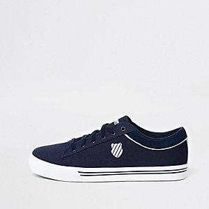 K-Swiss - Marineblauwe lage canvas sneakers