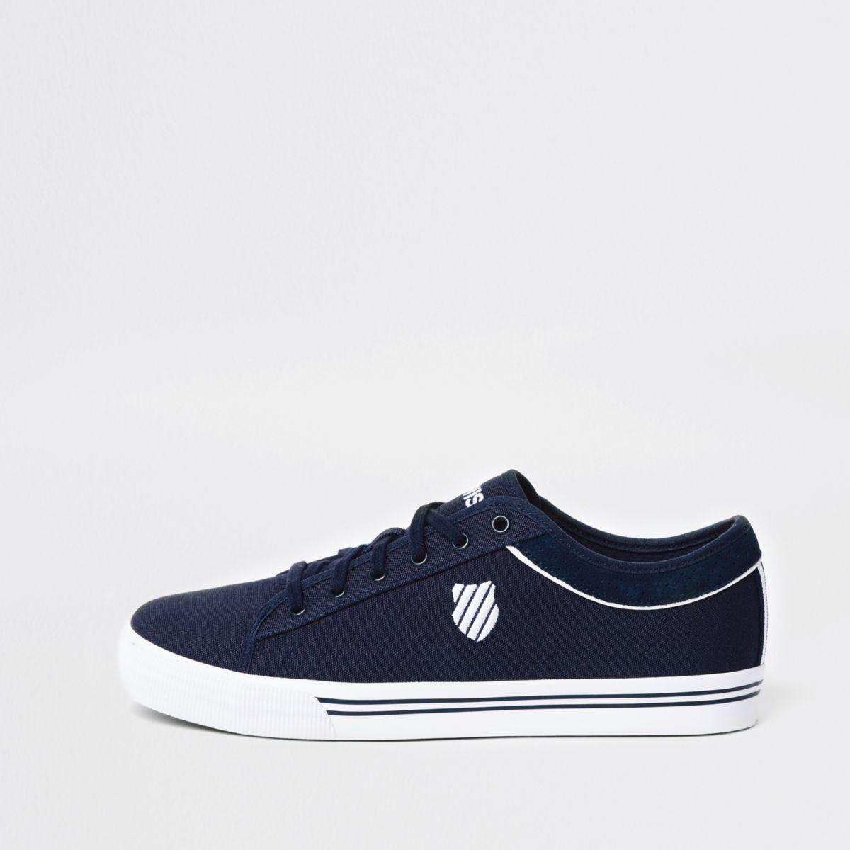 Navy K-Swiss low top canvas sneakers