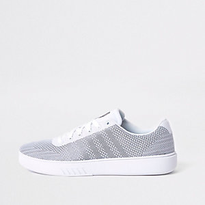 K-Swiss white mesh sneakers