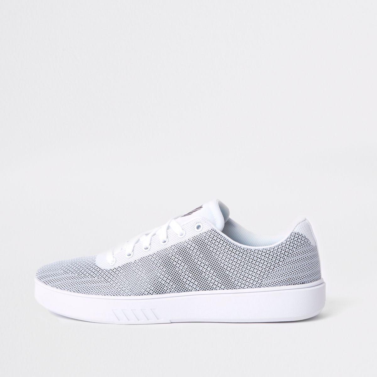 K-Swiss white mesh sneakers