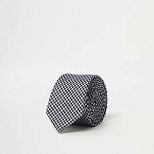 Grijze geruite stropdas