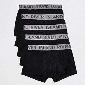 River Island Lot de boxers taille basse RI noirs