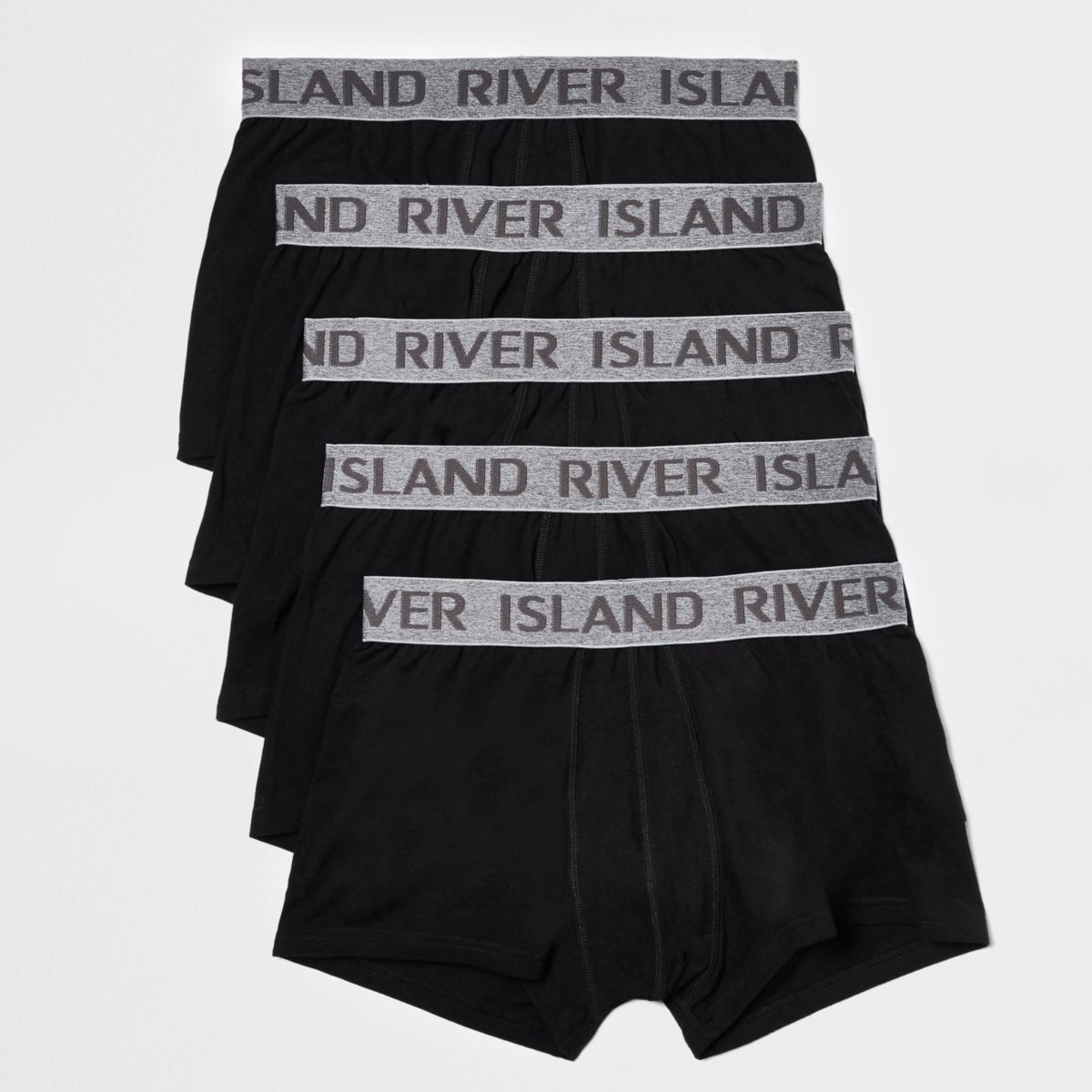 Mens Navy RI branded waistband trunks multipack River Island With Paypal nGw2tOkz