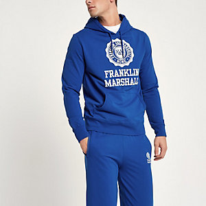Blue Franklin and Marshall hoodie outfit
