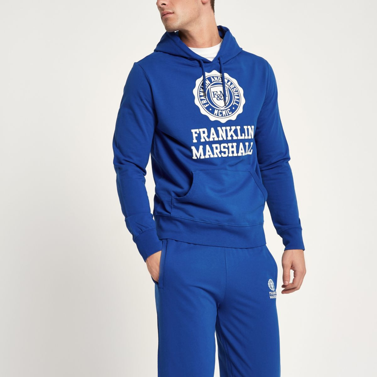 Franklin and Marshall blue tracksuit outfit