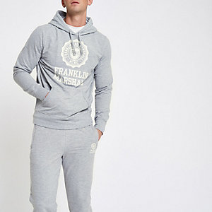 Grey Franklin and Marshall hoodie outfit