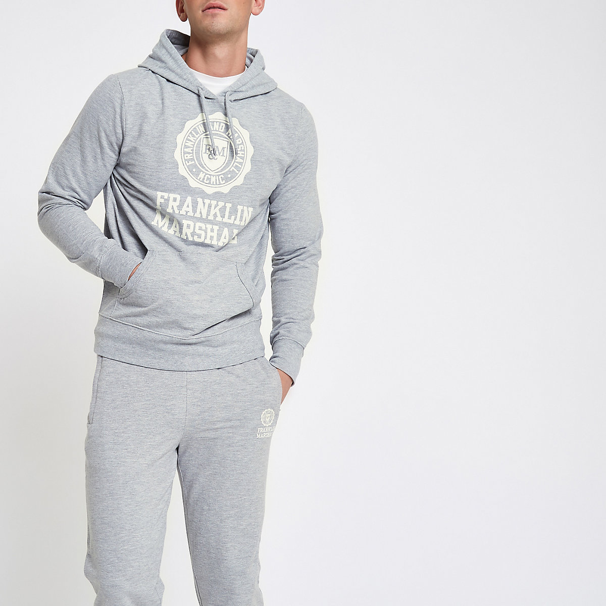 Franklin & Marshall grey tracksuit outfit
