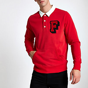 Maillot de rugby rouge Franklin & Marshall