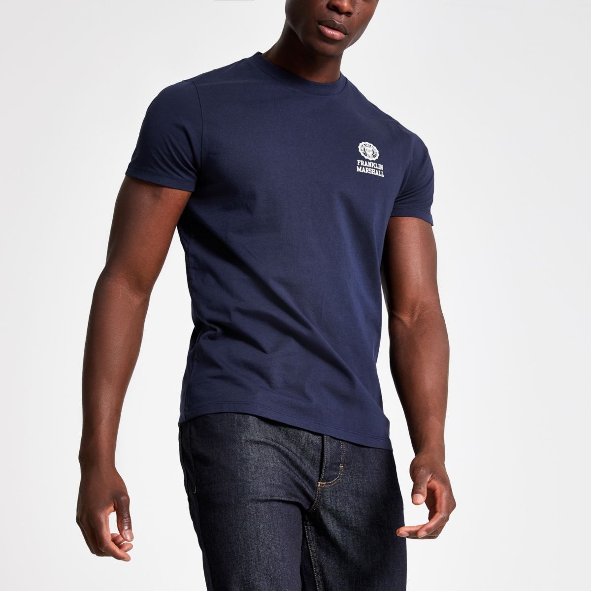 Franklin & Marshall navy crew neck T-shirt