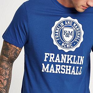 Franklin & Marshall – T-shirt à logo bleu
