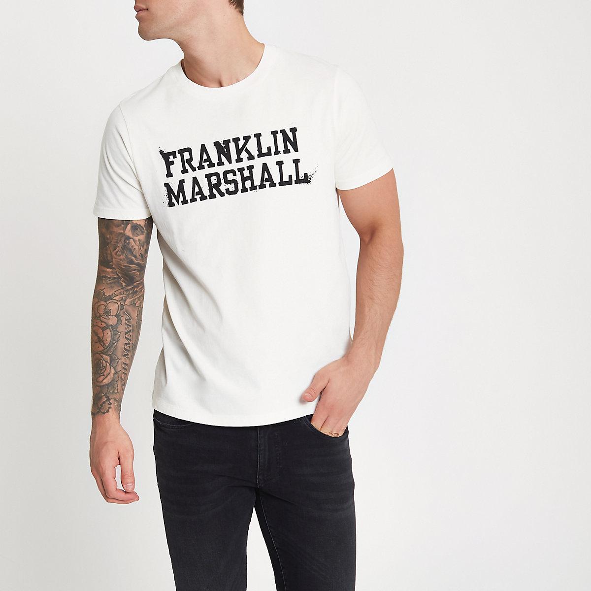 Franklin & Marshall white print T-shirt