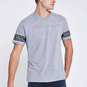 Franklin & Marshall – Graues T-Shirt mit Rundhalsausschnitt