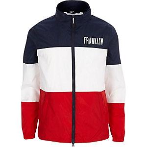 Franklin & Marshall - Marineblauw jack met kleurvlakken