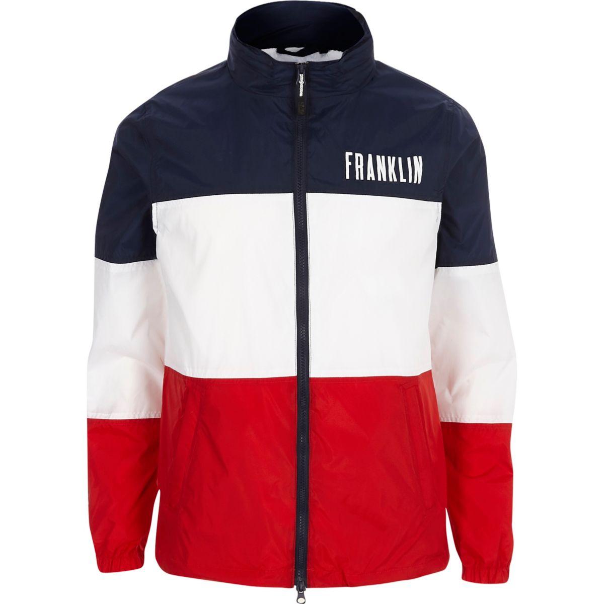 Navy Franklin & Marshall colour block jacket