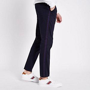 Marineblauwe nette skinny broek