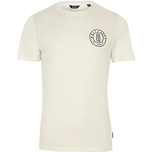 Only & Sons - Wit slim-fit T-shirt met logo