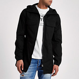 Black Bellfield lightweight hooded jacket