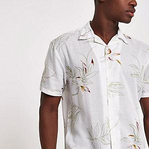 Bellfield - Wit overhemd met bloemenprint