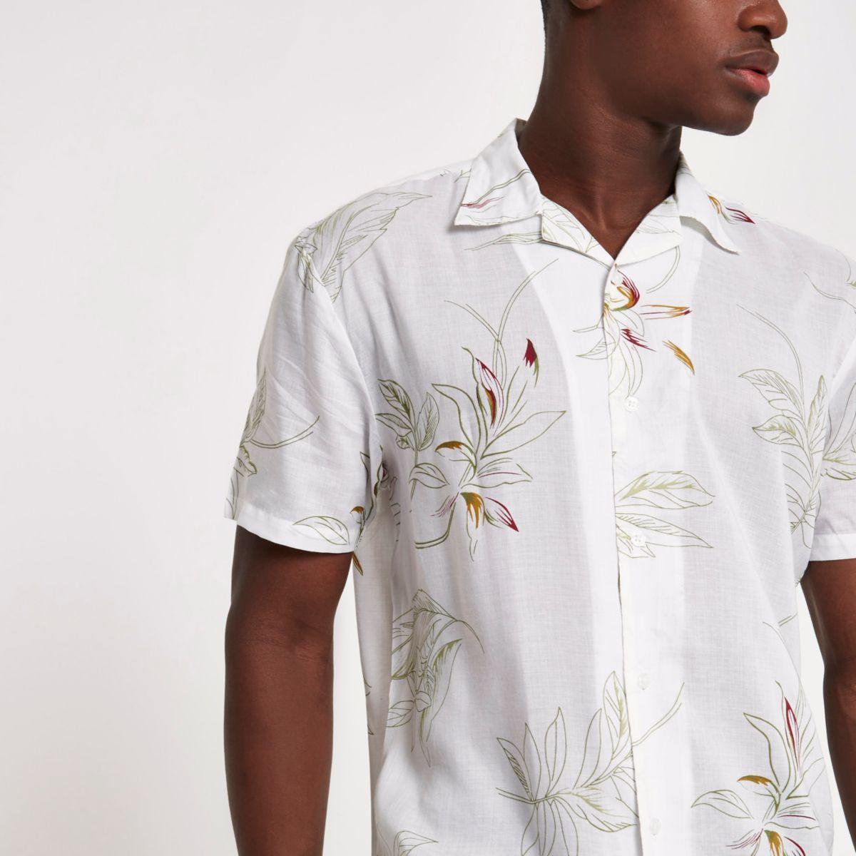 Bellfield white floral shirt
