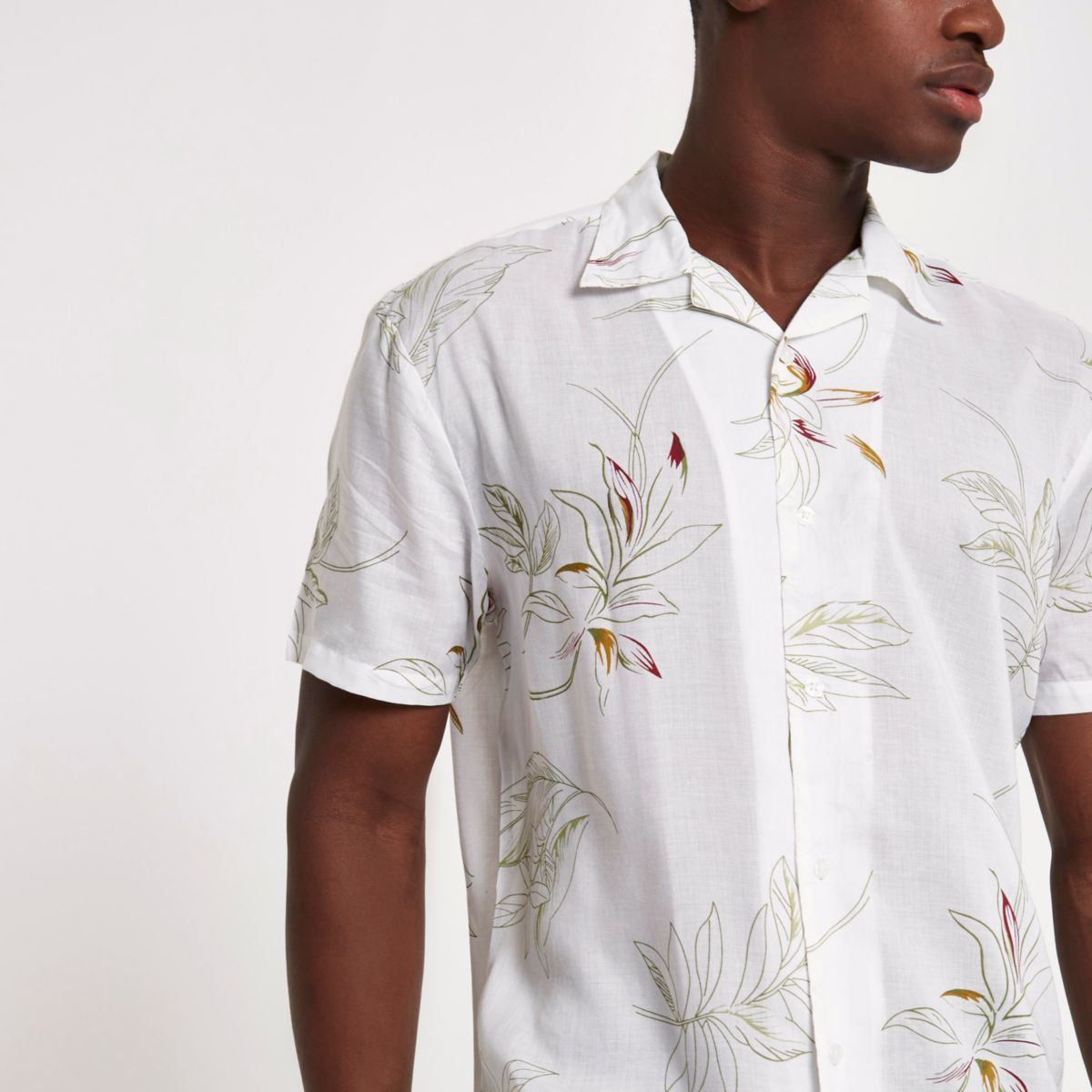 White Bellfield floral shirt