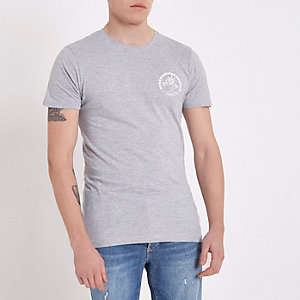 Grey Bellfield crew neck T-shirt