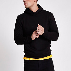 Boxfresh - Zwarte hoodie met lange mouwen
