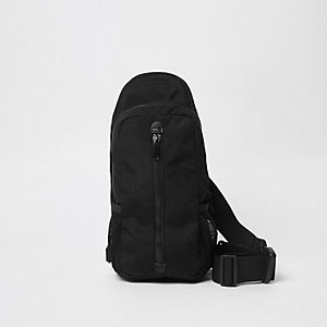 Black single strap backpack