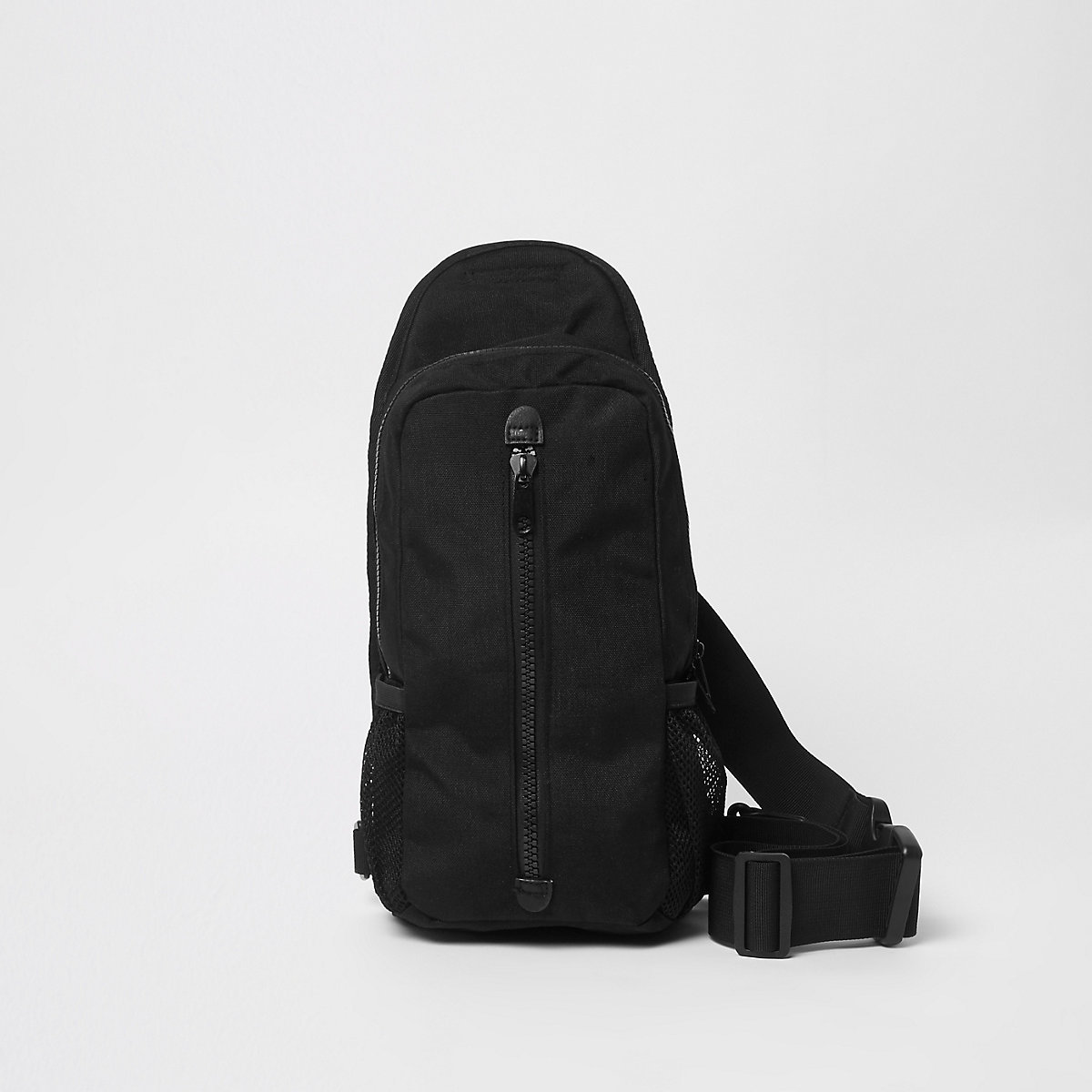 Black single strap backpack - Bags - Sale - men b930c10becf8e